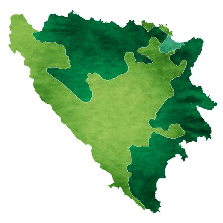 Bosnië wereld kaart land pictogram Stock Illustratie