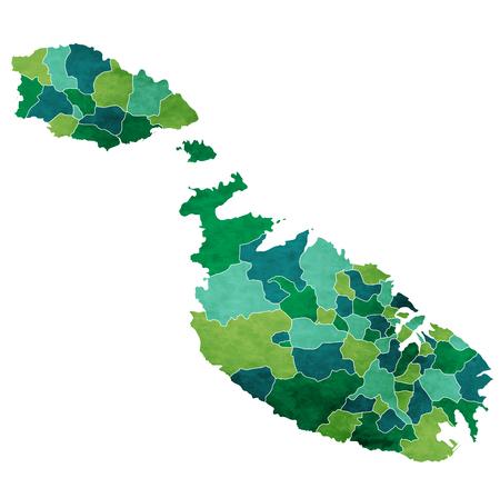 Malta World map country icon