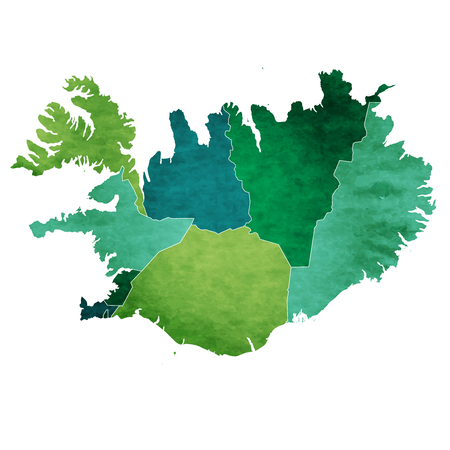 Iceland World Map Country Icon Royalty Free Cliparts, Vectors, And ...