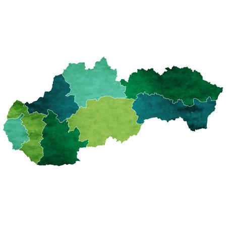 슬로바키아 세계지도 국가 아이콘 일러스트