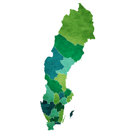 Sweden World map country icon Vettoriali