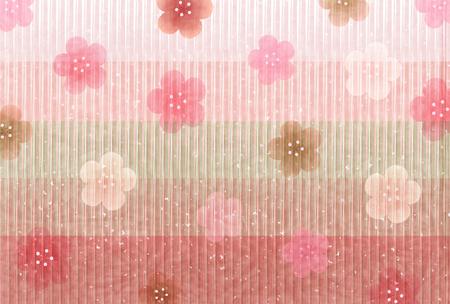 Hina Matsuri plum blossoms Japanese paper background
