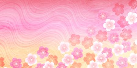 Hinamatsuri plum Japanese paper background Vettoriali