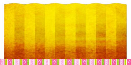 Hinamatsuri Gold Japanese paper background