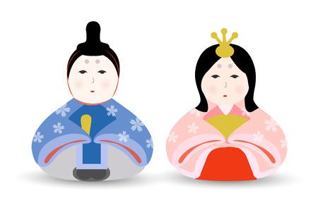 Hinamatsuri puppet spring icon