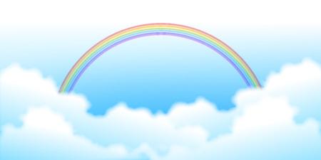Sky Rainbow Landscape Background