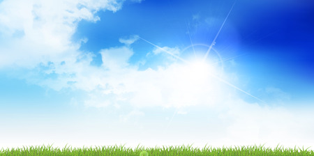 Sky cloud landscape background Ilustrace