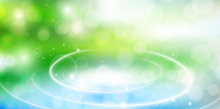 De verse groene achtergrond van het Vijverlandschap Vector Illustratie