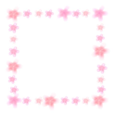 桜の春のフレームアイコン  イラスト・ベクター素材