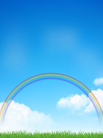 Sky Rainbow Prairie Background