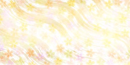 桜春の花柄