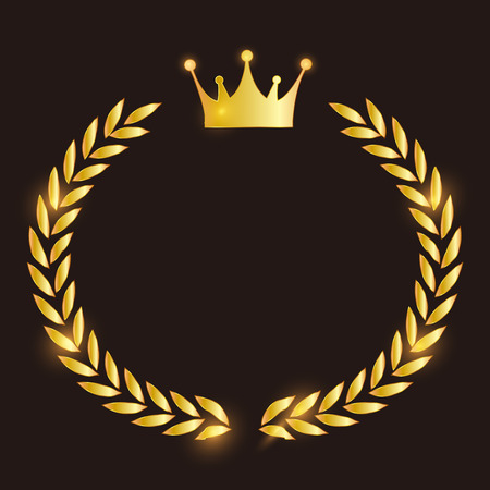 Crown Laurel leaves icon