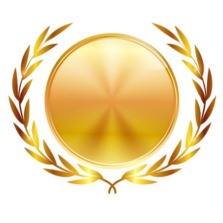 Medal Laurel leaf icon