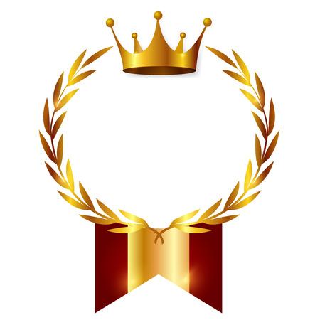 Crown Medal Ribbon Icon