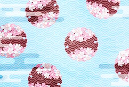 Cherry Blossoms spring flower background Illustration