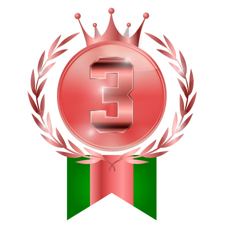 Crown medal copper icon