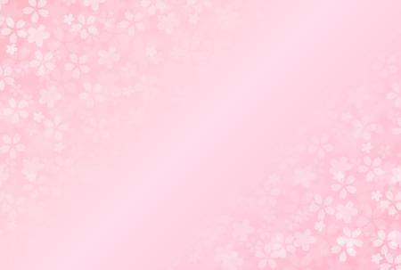 Cherry blossoms spring flower background illustration.
