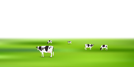 Cow ranch landscape background