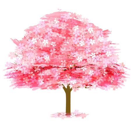 Cherry Blossoms Spring Flower Icon Stock Illustratie