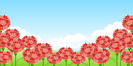 Carnation Mothers Day Flower background Vector illustration Ilustração