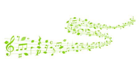 Fresh green leaf note background