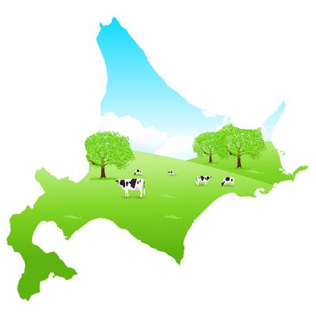 Hokkaido Cattle Map Ranch