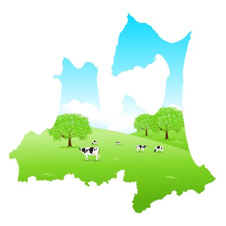 Aomori Cattle Map Ranch