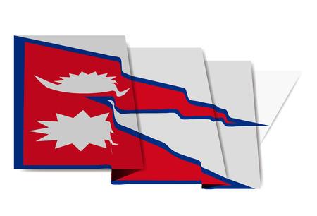 Nepal national flag Icon