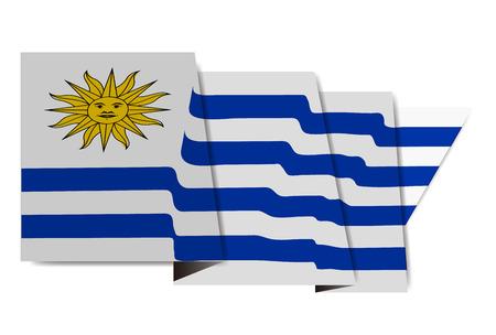 Uruguay national flag Icon  イラスト・ベクター素材
