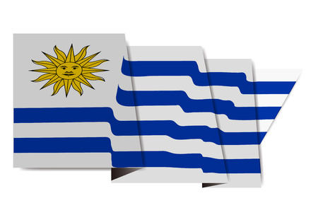 Uruguay national flag Icon Иллюстрация