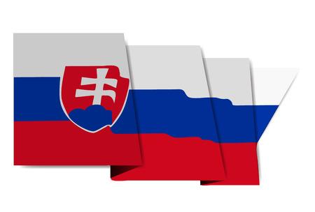 슬로바키아 국기 세계 아이콘