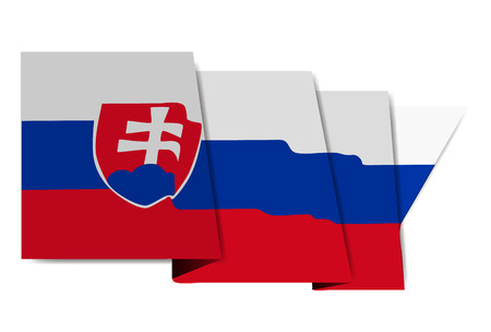 Slovakia national flag World Icon Stock fotó - 97420876