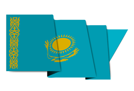 Kazakhstan national flag vector illustration Illustration