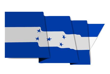 Honduras national flag World Icon Vector illustration.