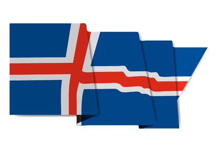 Iceland national flag World Icon Vector illustration. Çizim
