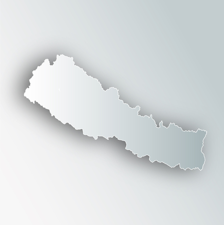 Nepal Map Frame Icon Çizim