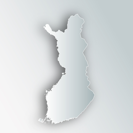 Finland Map Frame Icon Ilustrace