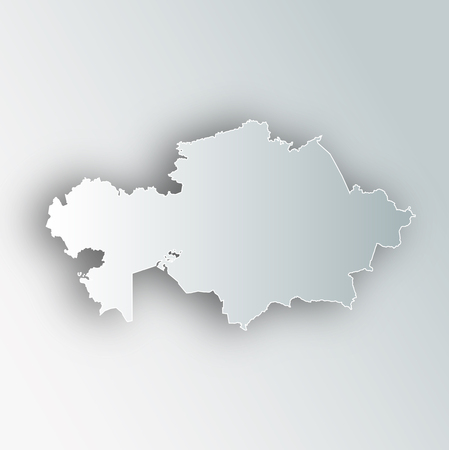 Kazakhstan Map Frame Icon 일러스트