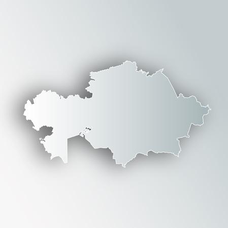 Kazakhstan Map Frame Icon Illustration