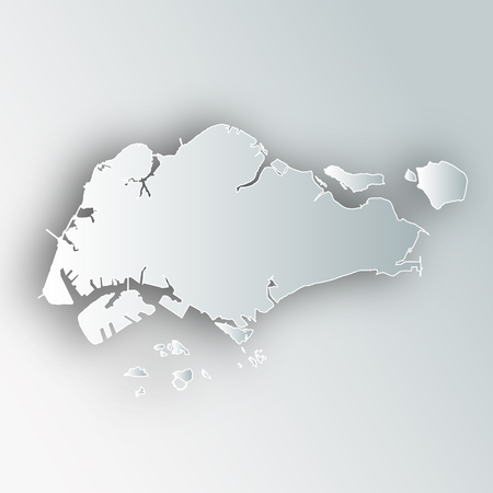 Singapore Map Frame Icon
