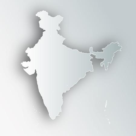 India Map Frame Icon Illustration