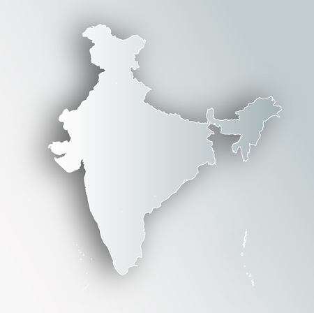 Icône de cadre de carte de l'Inde