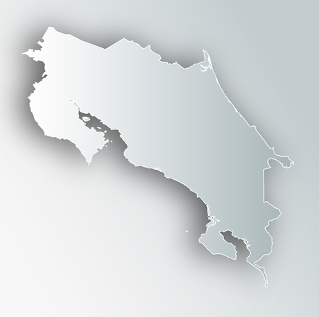 Costa Rica Map Frame Icon