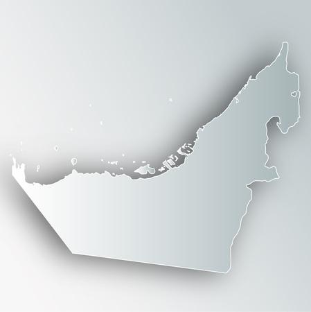 United Arab Emirates map frame icon.
