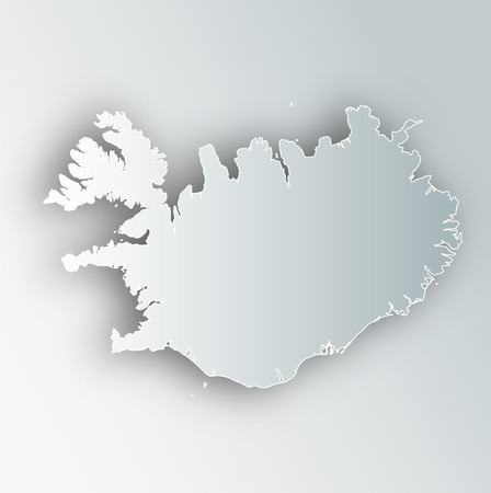 Iceland Map Frame Icon