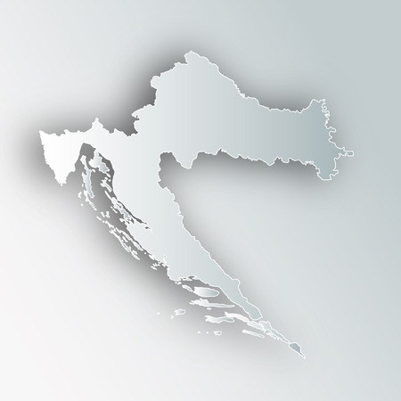 Croatia map frame icon.