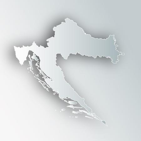 Croatia map frame icon.