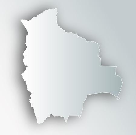 Bolivia map frame icon.