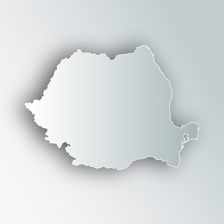 Romania map frame icon.