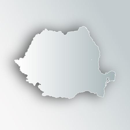 Roemenië kaart frame pictogram.